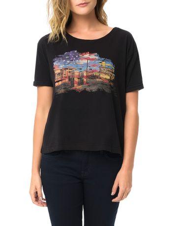 Blusa-Calvin-Klein-Jeans-Com-Estampa-Frontal-Preto