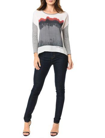 Blusa-Calvin-Klein-Jeans-Estampa-Frontal-Mescla