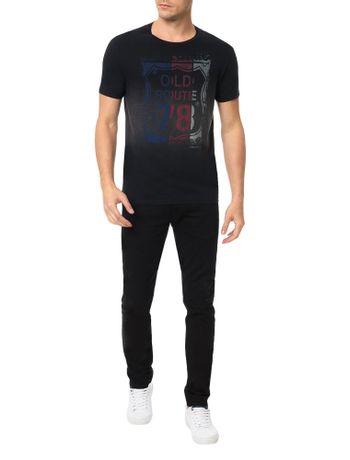 Camiseta-Calvin-Klein-Jeans-Estampa-Old-Route-78-Preto