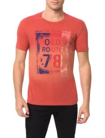 Camiseta-Calvin-Klein-Jeans-Estampa-Old-Route-78-Vermelho