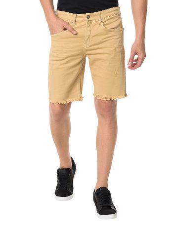 Bermuda-Color-Calvin-Klein-Jeans-Five-Pockets-Caqui-Claro