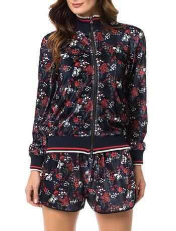 Jaqueta-Bomber-Calvin-Klein-Jeans-Veludo-Floral-Marinho