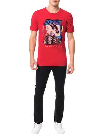 Camiseta-Calvin-Klein-Jeans-Estampa-New-Authentics-Vermelho