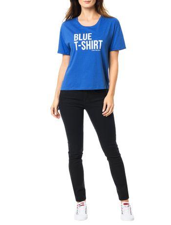 Blusa-Calvin-Klein-Jeans-Com-Estampa-Frontal-Azul-Carbono