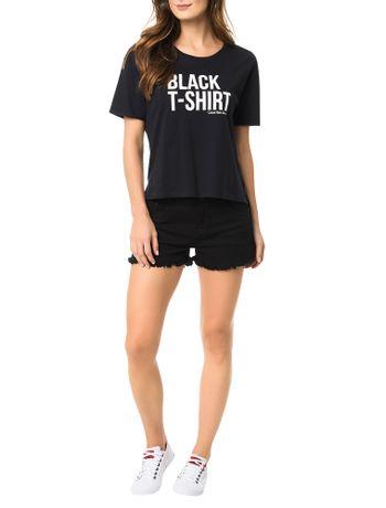Blusa-Preta-Calvin-Klein-Jeans-Com-Estampa-Frontal
