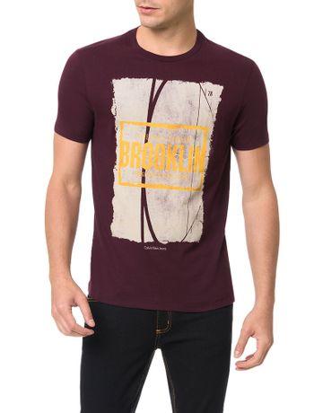 Camiseta-Calvin-Klein-Jeans-Streetball-Brooklin-Bordo
