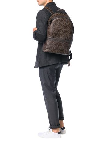 Mochila-Backpack-Calvin-Klein-Greg-Mono-Marrom