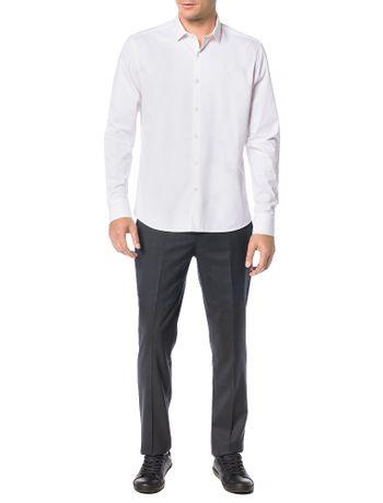 Camisa-Basica-Regular-Calvin-Klein-Cannes-De-Algodao-Branco