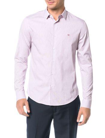 Camisa-Slim-Calvin-Klein-Cannes-Micro-Xadrez-Bordo-Claro