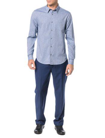 Camisa-Regular-Calvin-Klein-Geneva-Bolso-Mescla-Marinho