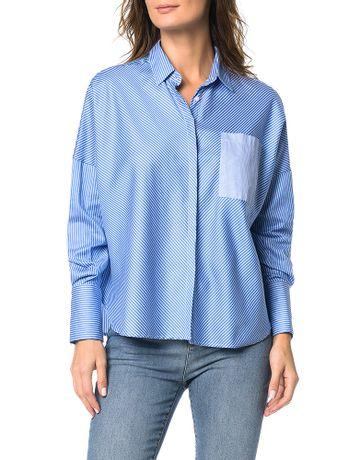 Camisa-Ampla-Calvin-Klein-Azul-Claro