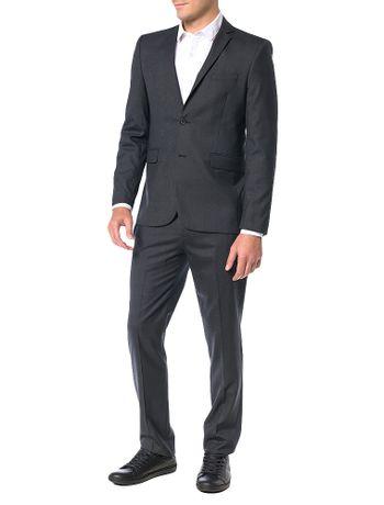 Costume-Slim-Calvin-Klein-La-Xadrez-Chumbo