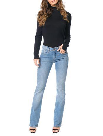 Calca-Jeans-Calvin-Klein-Slim-Flare-Azul-Claro