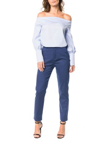 Camisa-Ombro-a-Ombro-Calvin-Klein-Azul-Claro