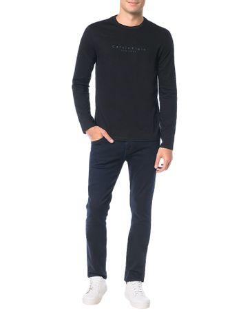 Camiseta-Calvin-Klein-Flame-Mescla-Logo-Espacado-Preto