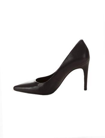 Sapato-Scarpin-Calvin-Klein-Jeans-Couro-Preto