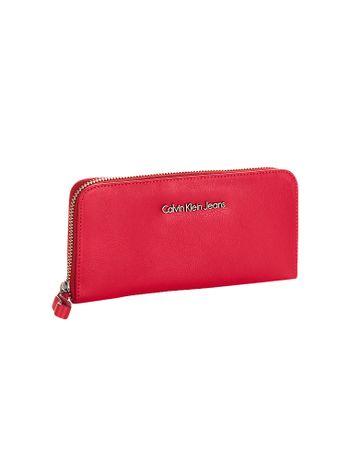 Carteira-Media-Ziper-Calvin-Klein-Jeans-Vermelho
