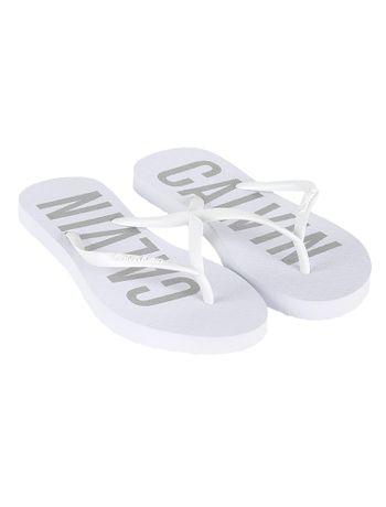 Chinelo-Calvin-Klein-Jeans-Calvin-Bold-Branco