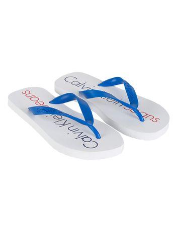Chinelo-Calvin-Klein-Jeans-Logo-Tricolor-Branco