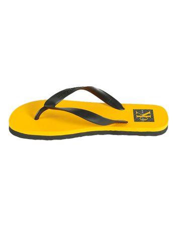 Chinelo-Calvin-Klein-Jeans-Logo-Ck-Amarelo-Ouro