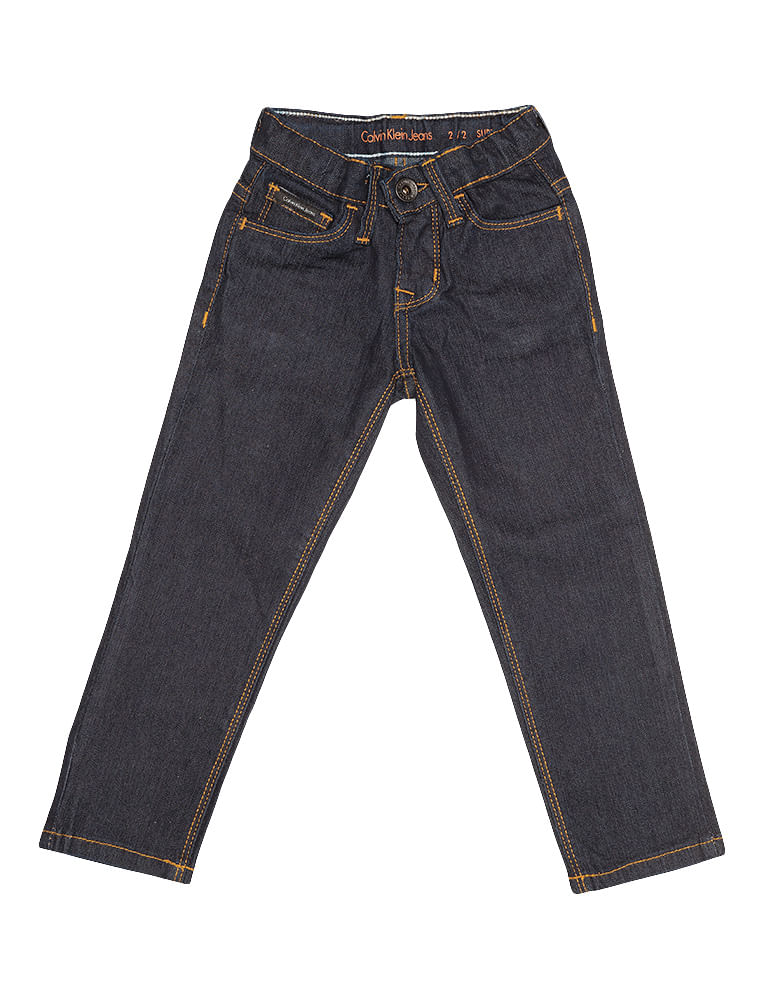 2a4c493db2 Calca-Jeans-Infantil-Calvin-Klein-Jeans-Five-Pockets-Super-Skinny-Azul- Marinho. Loading zoom
