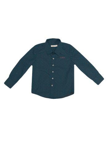 Camisa-Infantil-Calvin-Klein-Jeans-Estampada-E-Logo-Azul-Royal