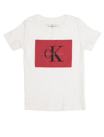 Camiseta-Infantil-Calvin-Klein-Jeans-Estampa-Logo-Branco
