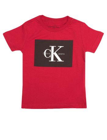 Camiseta-Infantil-Calvin-Klein-Jeans-Estampa-Logo-Vermelho