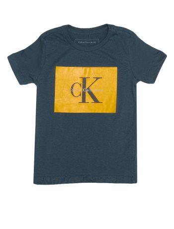 Suéter Infantil Calvin Klein Jeans Logo Peito Chumbo - Calvin Klein 5d0b1ef0e5d