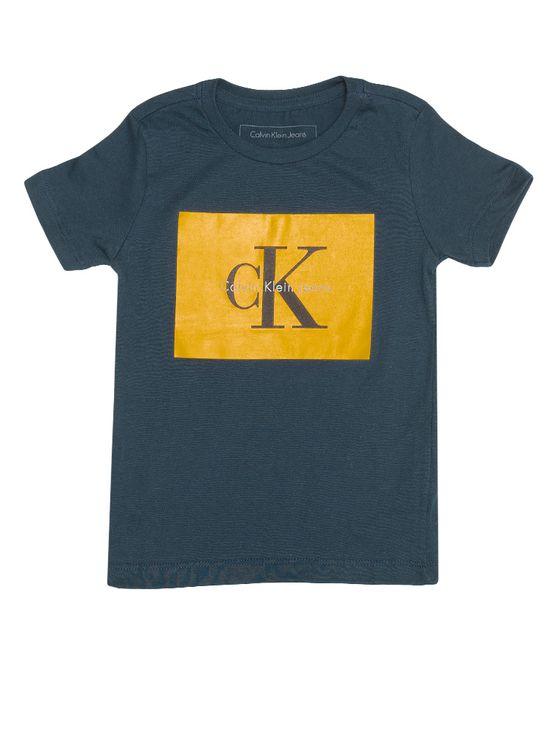 Camiseta-Infantil-Calvin-Klein-Jeans-Estampa-Logo-Marinho