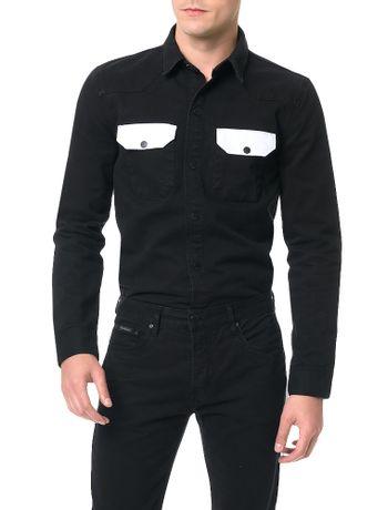 Camisa-Color-Calvin-Klein-Jeans-Preto