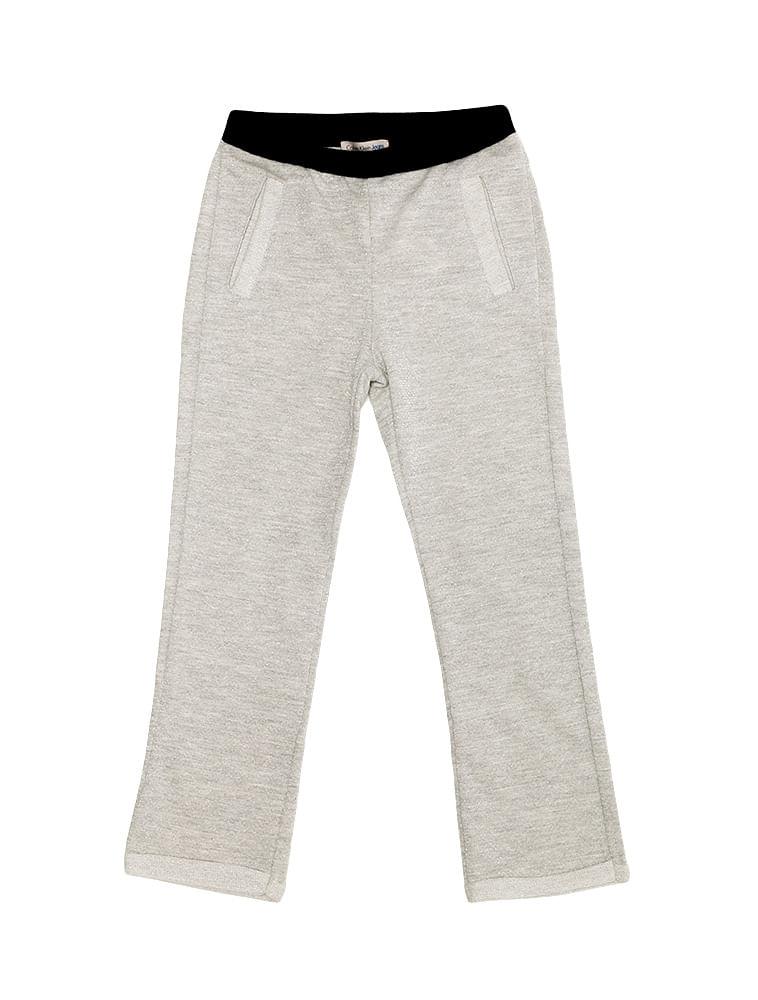 48a437a3b Calça Moletinho Infantil Calvin Klein Jeans Lurex Mescla - Calvin Klein