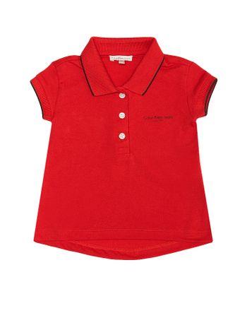 Polo-Infantil-Calvin-Klein-Jeans-Com-Logo-E-Friso-Nas-Mangas-Vermelho