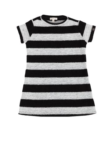 Vestido-Infantil-Listrado-Calvin-Klein-Jeans-Preto