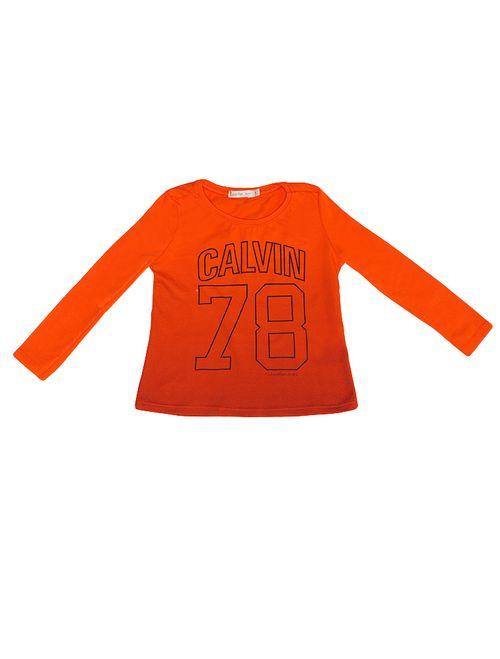 Blusa Infantil Calvin Klein Jeans Em Degradê Laranja