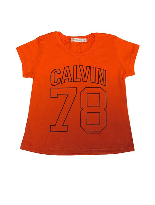 Blusa Infantil Calvin Klein Jeans Degradê Laranja