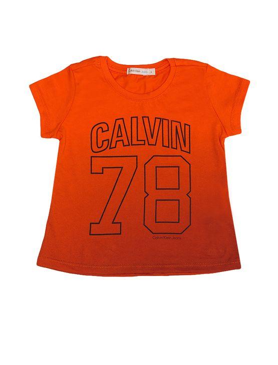 Blusa-Infantil-Calvin-Klein-Jeans-Degrade-Laranja