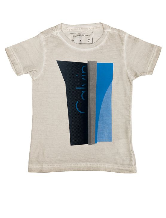 Camiseta-Infantil-Calvin-Klein-Jeans-Estampa-E-Lavanderia-Cinza-Claro