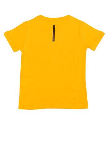 Camiseta-Infantil-Calvin-Klein-Jeans-Estampa-Amarelo-Ouro