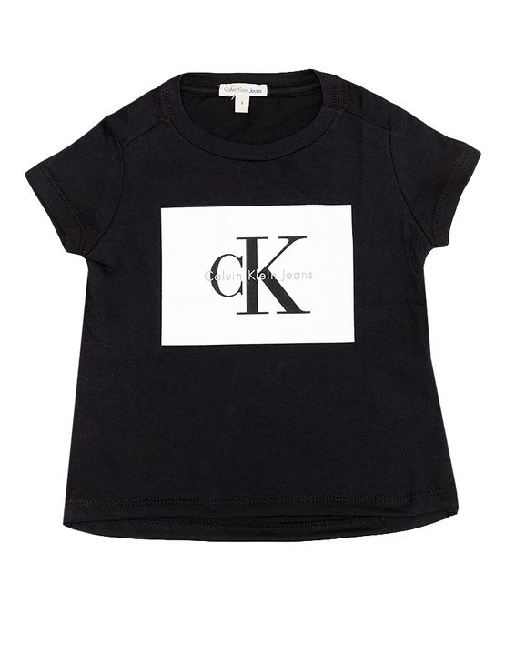 Blusa-Infantil-Calvin-Klein-Jeans-Estampa-Frente-Preto