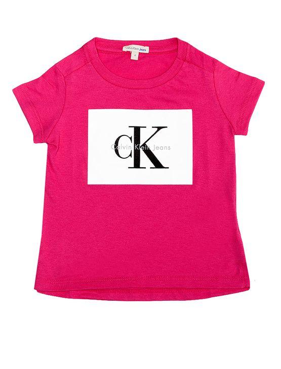Blusa-Infantil-Calvin-Klein-Jeans-Estampa-Frente-Rosa-Escuro