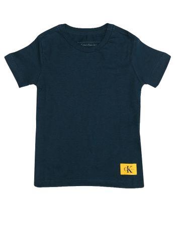 Camiseta-Infantil-Calvin-Klein-Jeans-Etiqueta-Logo-Marinho