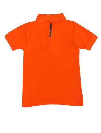 Polo-Infantil-Calvin-Klein-Jeans-Estampa-Logo-Peito-Laranja