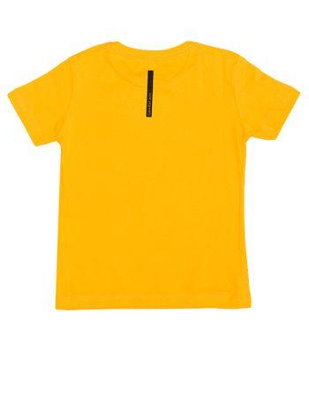 Camiseta-Infantil-Calvin-Klein-Jeans-Estampa-Copa-Amarelo-Ouro