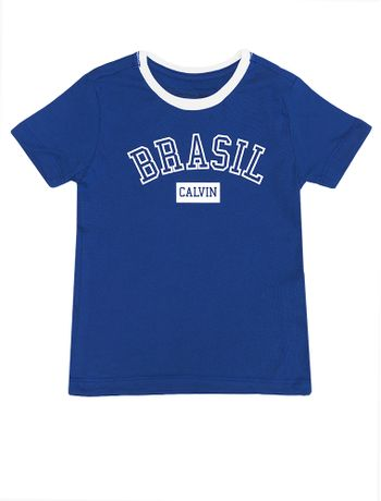 Camiseta-Infantil-Calvin-Klein-Jeans-Estampa-Copa-Azul-Carbono