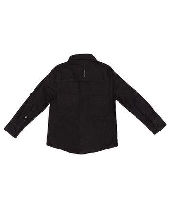 Camisa-Infantil-Calvin-Klein-Jeans-Recortes-Bolso-E-Logo-Chumbo