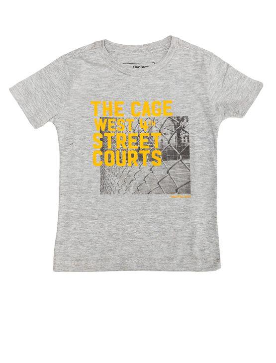 Camiseta-Infantil-Calvin-Klein-Jeans-Estampa-Frontal-Mescla