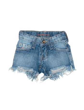 Shorts-Infantil-Calvin-Klein-Jeans-Five-Pockets-Azul-Medio