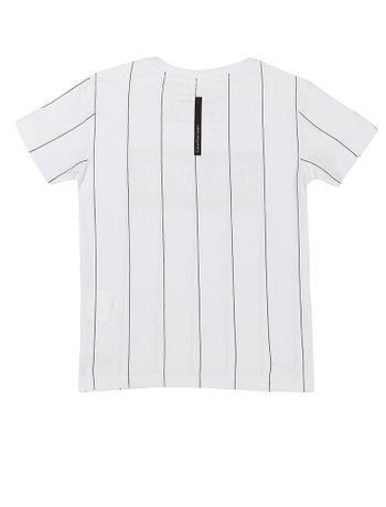 Camiseta-Infantil-Calvin-Klein-Jeans-Listras-E-Logo-Estampa-Frontal-Branco