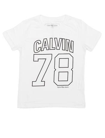 Camiseta-Infantil-Calvin-Klein-Jeans-Estampa-Logo-Branca